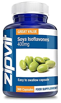 Soya Isoflavones 400mg, Pack of 360 Capsules, by Zipvit Vitamins Minerals & Supplements by Zipvit