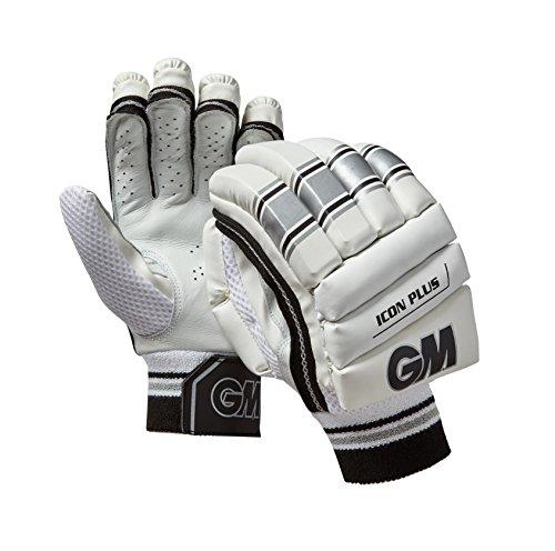 GM Unisex Icon Plus rechte Hand Batting Handschuhe, silber, groß