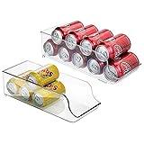 mDesign 2er-Set Dosenhalter für Kühlschrank und Küchenschrank - ideale Lebensmittel Aufbewahrungsbox für neun Dosen - praktischer Kühlschrank Organizer - durchsichtig