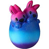 Yiwa Lindo Conejito de Pascua Simulación Dibujos Animados Squishy Lento Levantamiento Juguetes Suave Apretón Estrés Aliviar