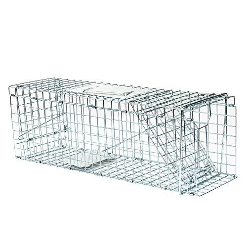 FOBUY Cage de piège pour Animaux Vivants de qualité Humaine, capturer et lâcher des Lapins, des écureuils, des ratons laveurs et des Animaux de Taille similaire (79 * 28 * 33CM)