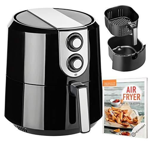 Airfryer Cuisinier Deluxe - Friggitrice ad aria calda, XXL, capacità: 5,2 l, senza olio, senza grassi, con ricettario originale Airfryer