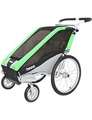 Thule Chariot Cheetah 1 - Remorque + kit poussette - vert/noir 2016 Remorque vélo