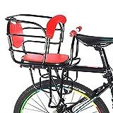 RANRANHOME Siège de vélo pour bébé-Porte-Enfant avec Main Courante antidérapante Siège arrière, Rouge