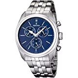 FESTINA Chronograph Herrenuhr blau Stahlarmband gebürstet Sport D1UF16778/3