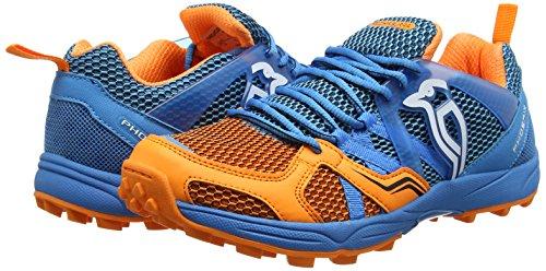 Kookaburra Phoenix scarpa Danubio hockey scarpe, unisex, Phoenix Shoe Danube, Blue/Orange Blue/Orange
