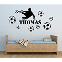 Football Player Boys Personalised Any Name Wall Art Mural Decal Sticker