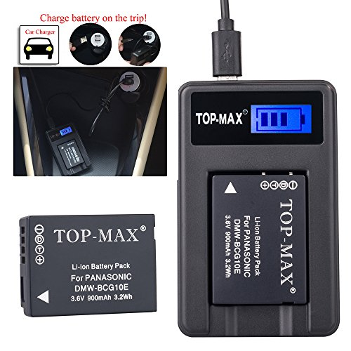 top-maxr-dmw-bcg10e-dmwbcg10edmw-bcg10dmwbcg10-rechargeable-li-ion-battery-usb-charger-replace-de-a6