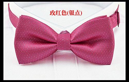lpkone-Velours de luxe pendentif strass bleu saphir diamant mariage marié robe Cravate Cravate Président Rose Red