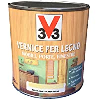 VERNICE PER LEGNO MOBILI, PORTE, FINESTRE 0,5L V33 NOCE SCURO SATINATO