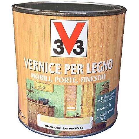 VERNICE PER LEGNO MOBILI, PORTE, FINESTRE 0,5L V33 NOCE CHIARO SATINATO