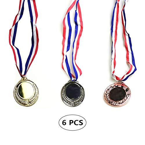 kungfu Mall 6 Medaglie del Vincitore del PC Medaglie di Fabbricazione del Metallo con Il Concorso di premi di Sport di Partito dei Bambini Coppery d'Argento Dorati
