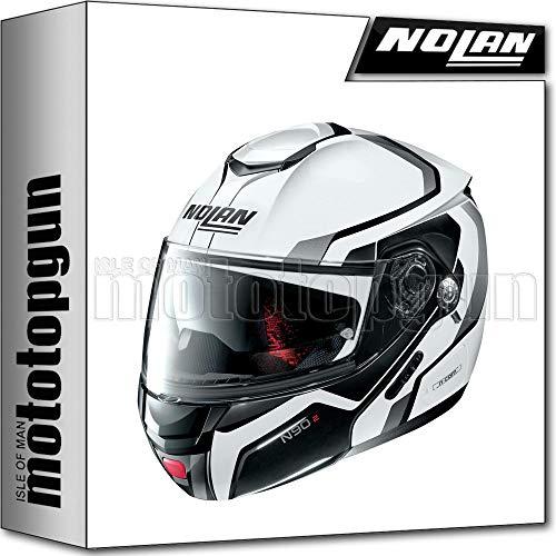 NOLAN MOTORRAD KLAPPHELM N90-2 MERIDIA NUS METAL WEISS 031 SZ. L
