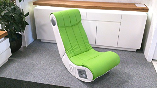 Lifestyle For Home Soundsessel Soundz Gaming Chair Spielsessel hell grün Lime weiß mit Audiosystem