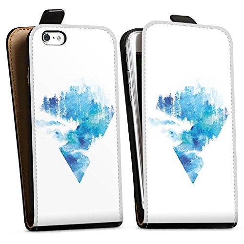 Apple iPhone X Silikon Hülle Case Schutzhülle Dreieck Blau Weiß Downflip Tasche schwarz