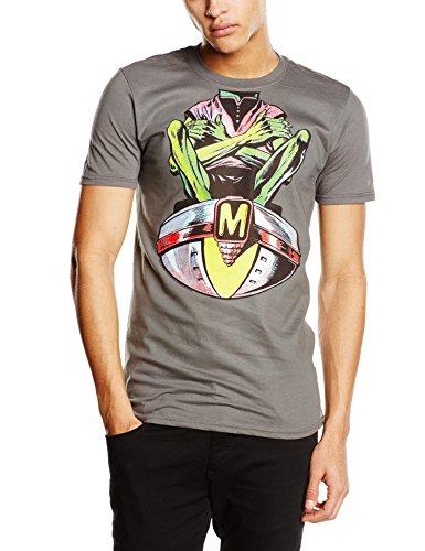 Plastichead Herren T-Shirt 2000ad Dan Dare Mekon Head Grau - Grau (Grey)