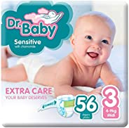 Dr.Baby Sensitive with Chamomile, Size 3, 4-9 kg, Value Pack, 56 Diapers