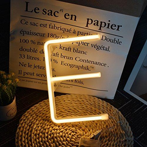 Neon luces, letras LED de caracteres Decoración Luz nocturna para Boda Cumpleaños Boda Bar Dormitorio Indoor Decor funciona con pilas y USB Powered