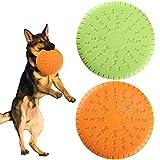 HO2NLE Frisbee Hund 2 Stücke Dog Disc Gummi Hundespielzeug Training Interaktive Schwimmend Buch Outdoor-Spielzeug für Große Hunde