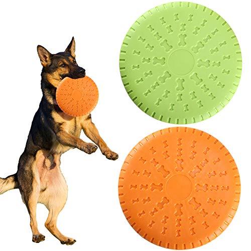 HO2NLE 2PZ Frisbee per Cani FrisbeePieghevole DogFrisbee Cane Giocattolo da Addestramento Facile da Trasportare Disc Dog per Cani Il Tuo Animale Domestico all'Aperto Giardino 23cm