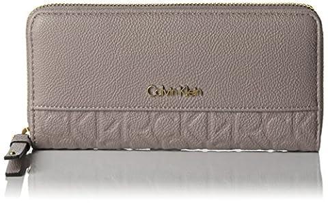Calvin Klein Jeans Damen MISH4 Large Ziparound Geldbörsen, Grau (Fungi 094 094), 4x22x3 cm