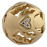 Thomas Sabo Damen-Bead Schutzengel Karma Beads 925 Sterling Silber 750 gelbgold vergoldet Zirkonia weiß K0223-414-14