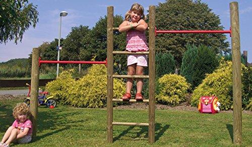 """Outdoor Garten Kletter-Reck Kletter-Leiter Kombination im Gesamtmaß von ca. 260 x 200 cm (Breite x Höhe) """"Robin"""""""