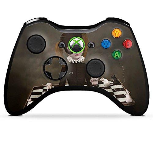 Microsoft Xbox 360 Controller Case Skin Sticker aus Vinyl-Folie Aufkleber Schach Maske Mädchen (Vinyl Maske Cat)