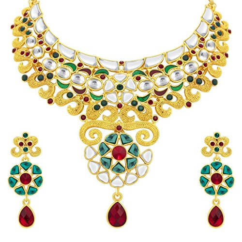 Sukkhi Ethnic Gold Plated Kundan Necklace Set For Women