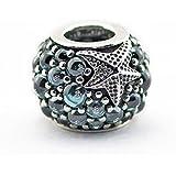 EMOSAN de Verano de 2016. Se adapta para Pandora pulsera Oceanic 925 estrellas de mar de la joyería DIY Sterling Silver Charm Beads