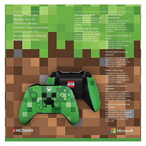 Microsoft -  Mando Inalámbrico: Edición Limitada Minecraft Creeper (Xbox One)