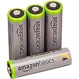 AmazonBasics Lot de 4 piles rechargeables Ni-MH Type AA 500 cycles 2500 mAh/minimum 2400 mAh (design variable)
