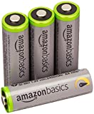 AmazonBasics Lot de 4 piles rechargeables Ni-MH Type AA 500 cycles 2500 mAh/minimum 2400 mAh (design variable)
