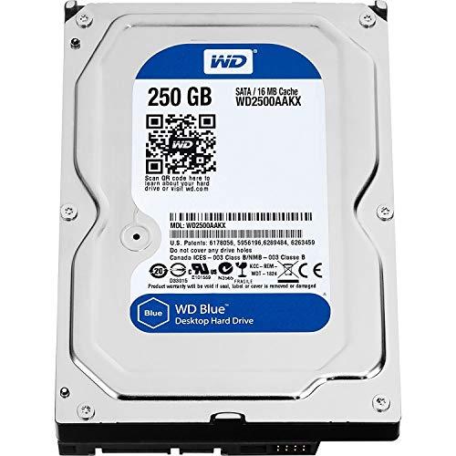 Western Digital WD2500AAKX Interne Festplatte (250 GB, 7.200 U/min, 16 MB Cache, SATA 6,0 GB/s, 3,5 cm, Caviar Blue - Sata-festplatte 7.200 U / Min 16mb Cache