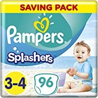 Pampers Splashers Disposable Swim Pants, taille 3/4, 6à 11kg,