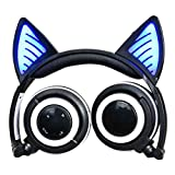 Cat Ohr Bluetooth Headset Sport mit Mikrofon HiFi Rauschunterdrückung Head-Montiert Klappdraht Control Universal