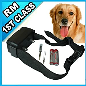 iClever Humane INCREMENTAL Anti Bark No Bark Ultrasonic Sound & Static Shock Dog Collar For MEDIUM LARGE DOGS (60lbs-150lbs)--Let your dog learn to be silent step by step from iClever®