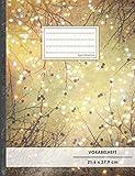 VOKABELHEFT DIN A4 • 50+ Seiten, Soft Cover, Register, 2 Spalten, Erfolgs-Tacker, 'Herzen' • Original #GoodMemos Schulheft • Sprachen und Vokabeln leicht lernen, Lineatur 53