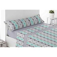 Energy Colors Textil-Hogar - Térmicas 8666 - Juego SÁBANAS Completo Polar 3 Piezas Pirineo