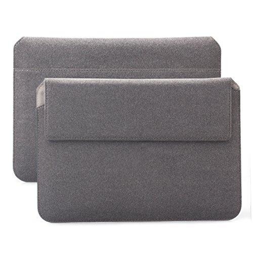 iCues Apple iPad Mini 4 Case | Samsung Galaxy Tab S2 8.0 Tasche | 6.9 bis 8.0 Zoll Tablet Piquante Etui Sheep Anthrazit | Sleeve Hülle Schutzhülle Case Notebook Leder Cover Schutz Filz Tasche