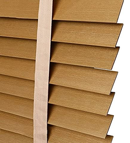 LIQICAI Linden Wood Venetian Blinds Piano Lacquer, 50MM Largeur Slats, Largeur x Drop, Disponible en 4 Couleurs, 3 Tailles ( Couleur : Gold-A , taille : 80 x 160 cm-2 Set )