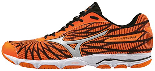 Mizuno Herren Wave Hitogami 4 Laufschuhe Orange (Clownfish/silver/black)