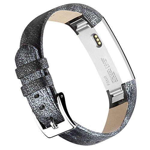 Bracelet en cuir Vancle pour Fitbit Alta Fitbit Alta HR, Bracelet de Remplacement Fitbit Alta réglable et confortable avec boucle en acier
