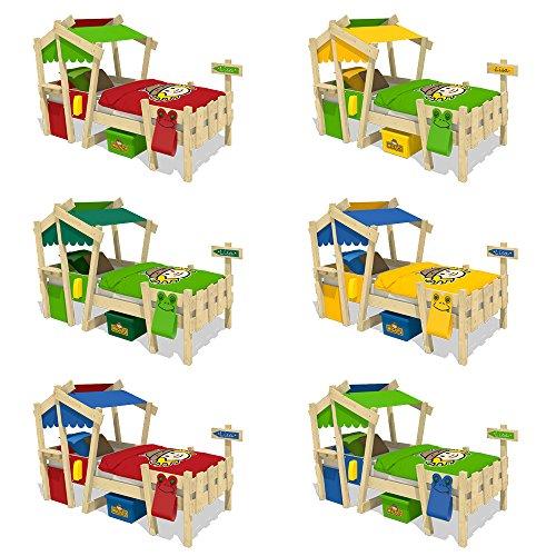 WICKEY Kinderbett CrAzY Candy Jugendbett 90x200cm mit Lattenboden, gelb-apfelgrün - 5