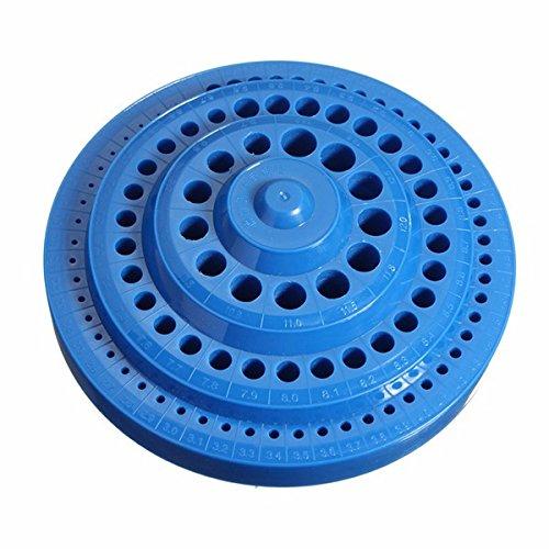 Preisvergleich Produktbild EsportsMJJ Multifunktional Blaue Plastik Round Shape Drill Bit Storage Box