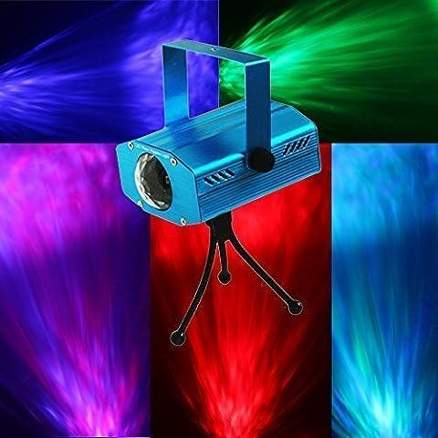 Eplze® Portabel Mini LED Stufe Beleuchtung Wasser Welle Bewirken Ripple Beleuchtung Projektor Multi-Farbe mit Fern Steuern für Party Lightshow Bar Haus