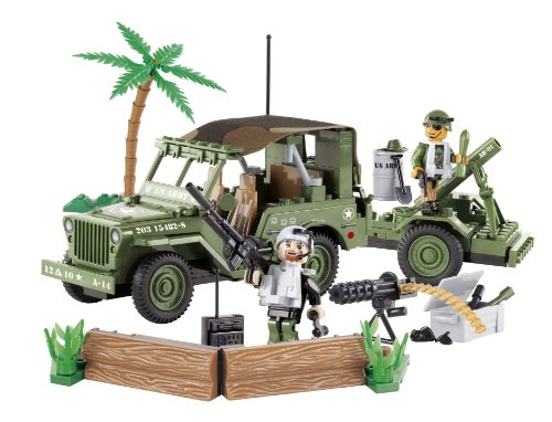 cobi-small-army-jeep-willys-with-mortar