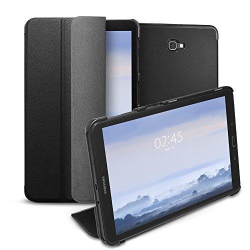 Spigen Galaxy Tab A 10.1 Hülle, Smart Fold entworfen für Galaxy Tab A 10.1 Zoll 2016 Case Cover (SM-T580/SM-T585) - Schwarz