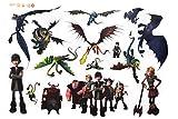 XXL Aufkleber Sticker Drachenzähmen leicht gemacht Ohnezahn Hicks Astrid