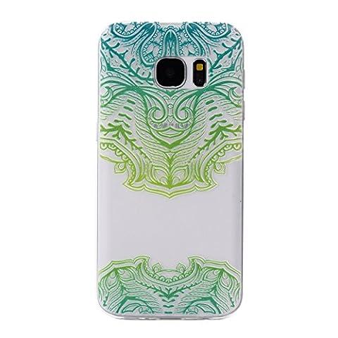 Pour Samsung Galaxy S7 Coque,Ecoway Housse étui Flexible protection en TPU Silicone Shell Housse Coque étui creux Slim Case Cover Cuir Etui Housse de Protection Coque Étui Samsung Galaxy S7 –Masque